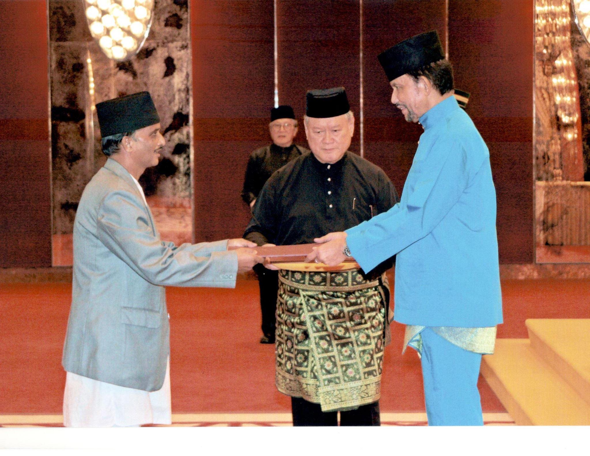 credential presentation to hm sulatan of  brunei